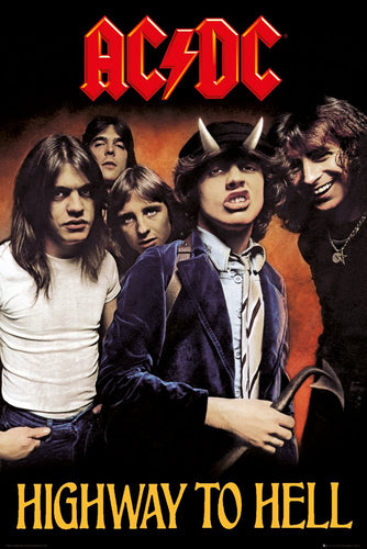 AC/DC - Highway to Hell - Portrait Poster - egoamo.co.za