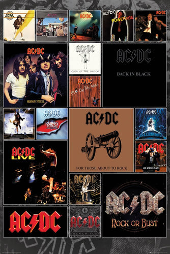 AC/DC - Album Covers Poster - egoamo.co.za
