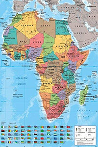 Map of Africa Educational Poster - egoamo.co.za