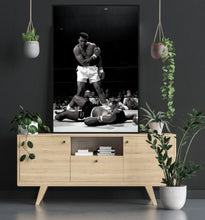 Ali v Liston Boxing Poster - egoamo posters - room mock up