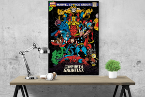 Marvel Avengers Retro (The Infinity Gauntlet) Poster - egoamo.co.za