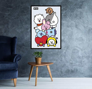 BT21 Cartoon Network Official Poster egoamo.co.za Posters