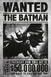 Wanted - Batman Arkham Origins Poster