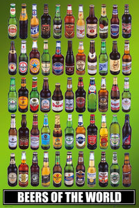 Beers of the World Poster Egoamo.co.za Posters