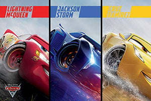 Disney's Cars 3 - Red, Blue and Yellow - Poster - egoamo.co.za