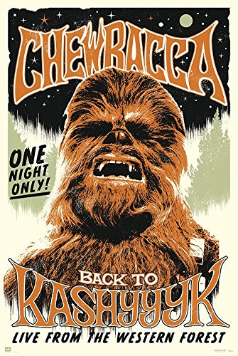 Chewbacca Star Wars movie poster - egoamo.co.za