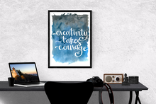 Creativity takes courage - Watercolour Poster - egoamo.co.za