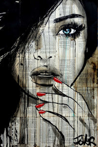 Loui Jover - Crimson and Ice Art Print - egoamo.co.za
