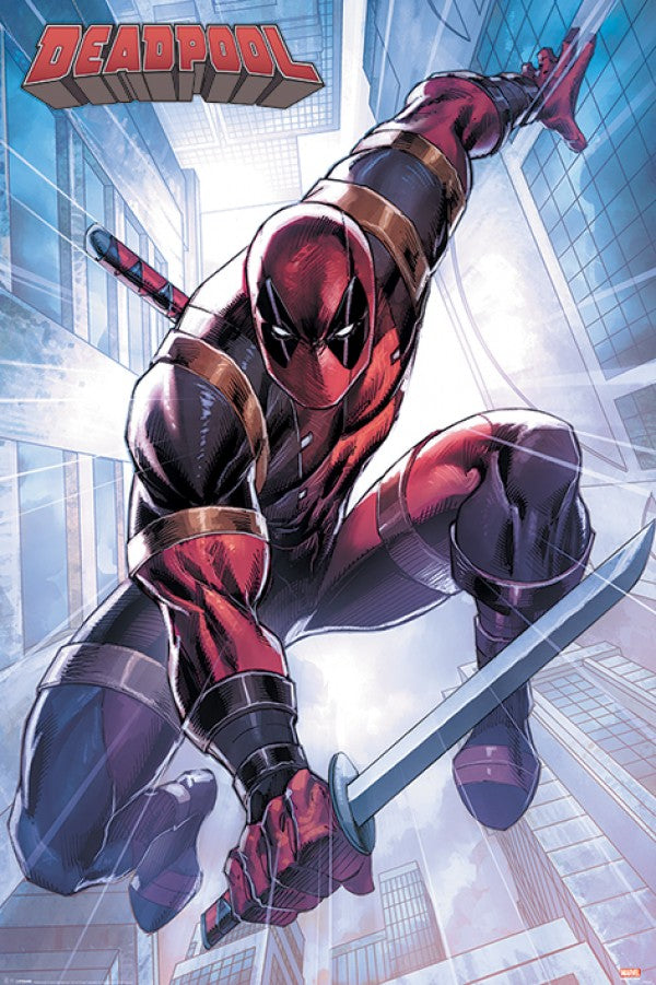 Deadpool - Action Pose Comic Poster egoamo.co.za