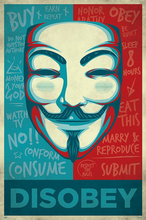 Disobey - V for Vendetta - Poster - egoamo.co.za