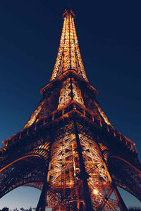 Eiffel Tower at Night Poster - egoamo.co.za