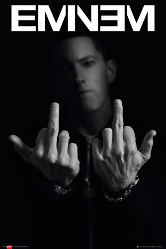 Eminem Middle Fingers Up Poster  egoamo.co.za posters