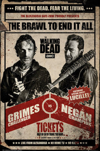 Walking Dead - Fight - Poster - egoamo.co.za