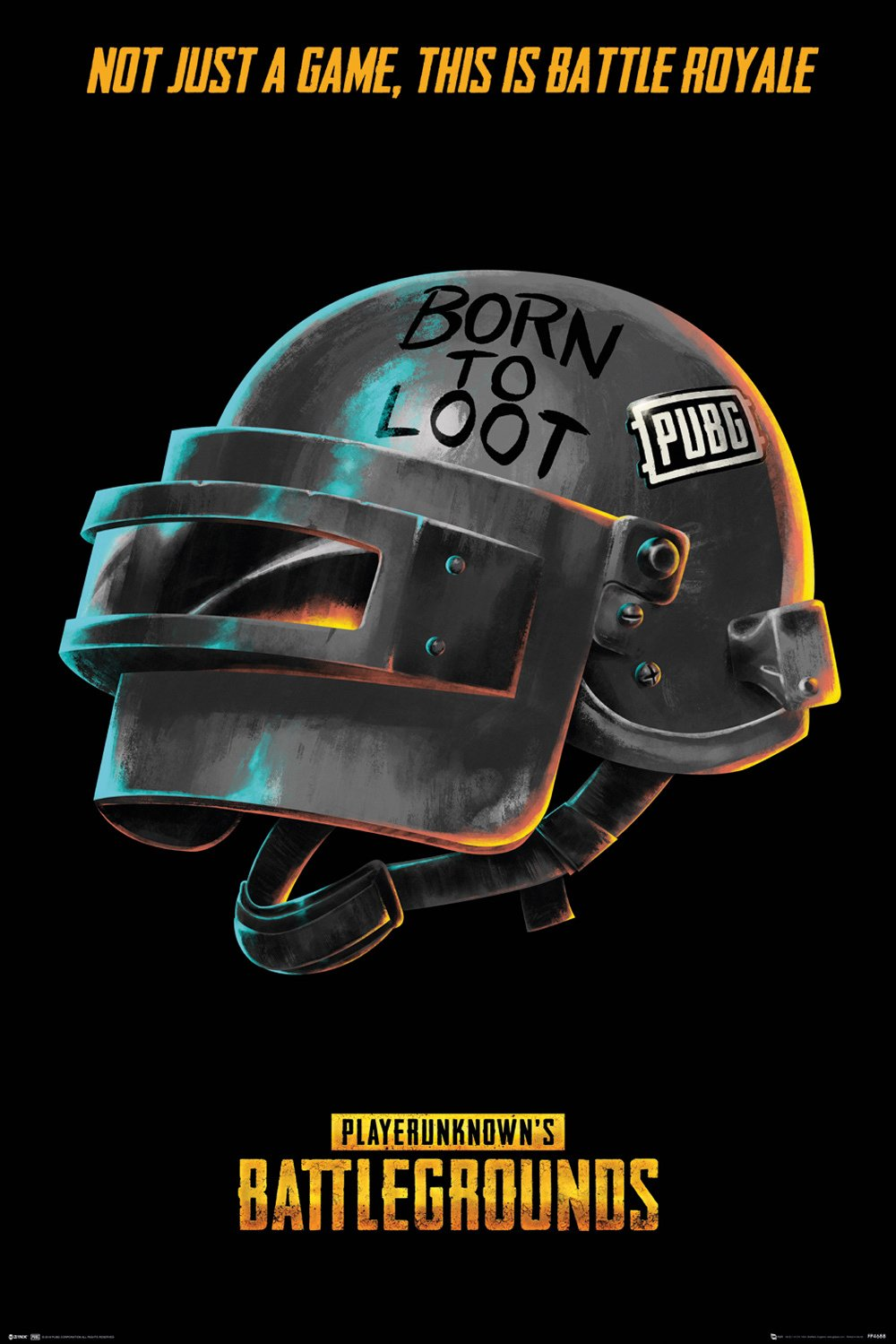 PUBG - Born to Loot Poster - egoamo.co.za