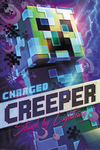 Minecraft - Charged Creeper Gaming Poster - egoamo.co.za