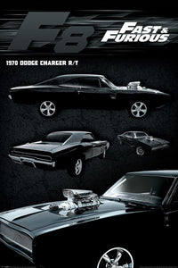 Fast & Furious - F8 - Dodge Charger - Poster - egoamo.co.za