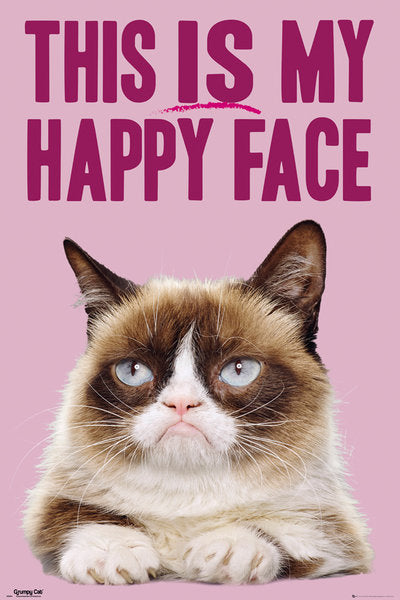 This is my happy face - Grumpy Cat Poster - egoamo.co.za