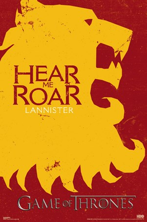 Game of Thrones - Lannister Flag - Poster - egoamo.co.za