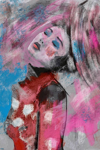 Janko de Beer Geisha in pink and blue art print - egoamo posters