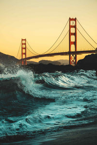 The Golden Gate Bridge - San Francisco Poster - egoamo.co.za