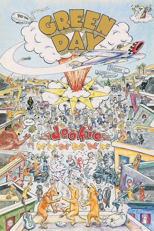 Green Day - Dookie Album Cover Poster - egoamo.co.za