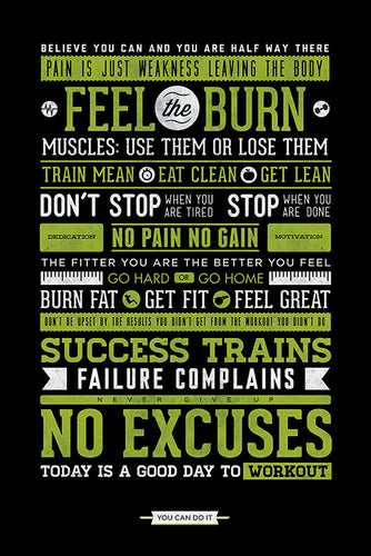 Gym Inspirational Poster - egoamo.co.za