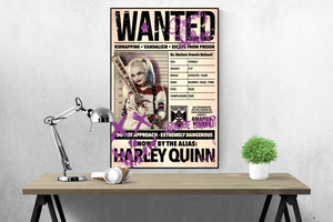 Suicide Squad - WANTED - Harley Quinn - Poster - egoamo.co.za