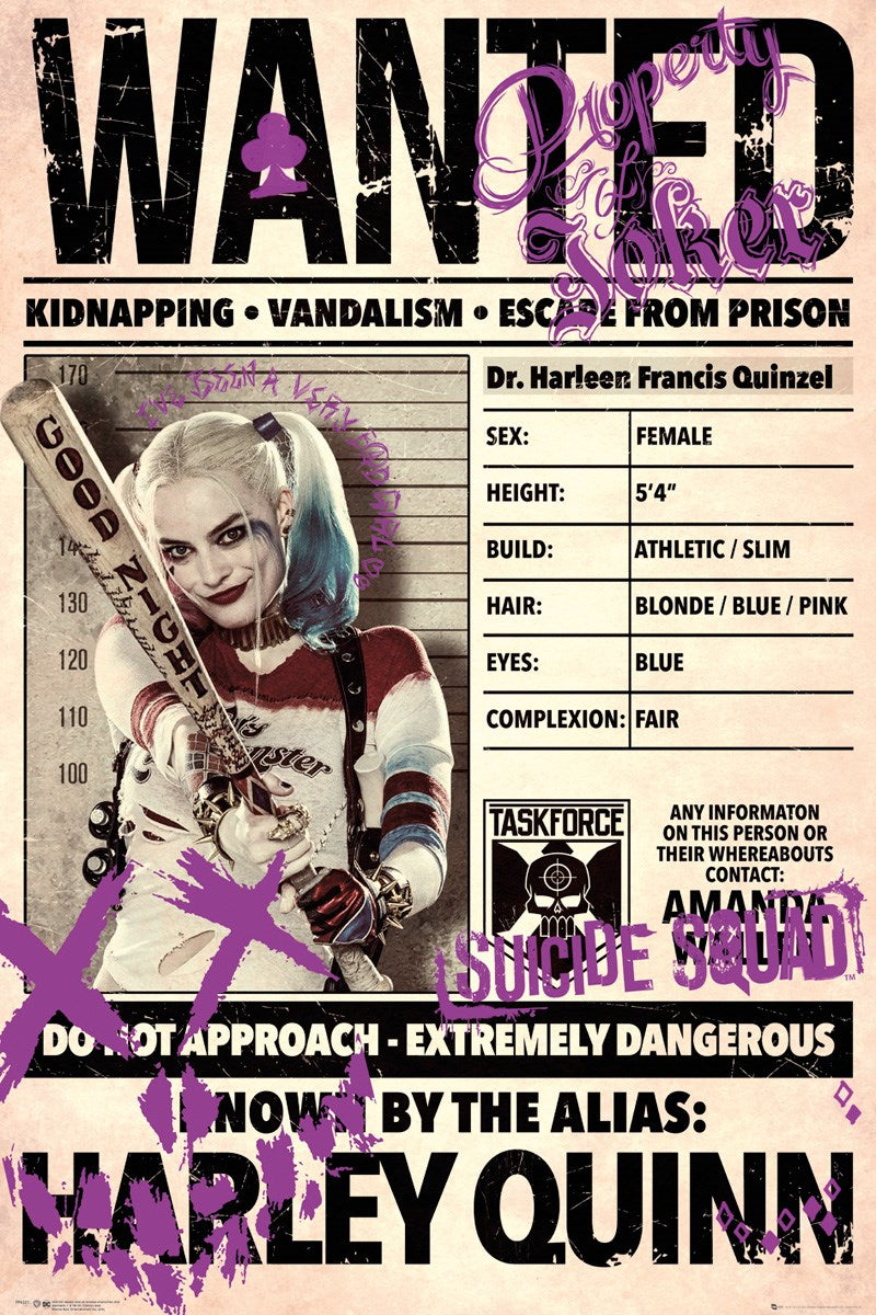 Harley Quinn movie poster for sale | egoamo.co.za