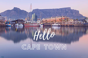 EgoAmo Original - Hello Cape Town Poster - egoamo.co.za