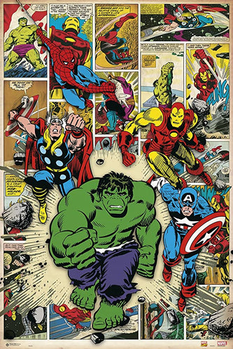 Here come the Heros Marvel Comic Poster egoamo.co.za posters