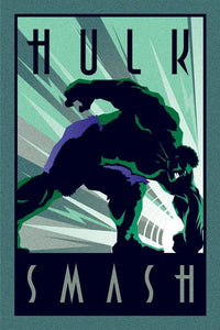 Hulk - Art Deco Poster - egoamo.co.za