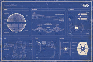 Star Wars - Empire Fleet Blueprint - Poster - egoamo.co.za