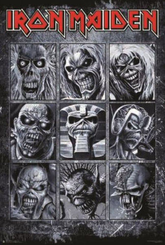 Iron Maiden - Many Faces of Eddie - Poster - egoamo.co.za