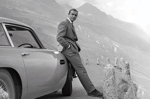 James Bond Connery Aston Martin Poster egoamo.co.za