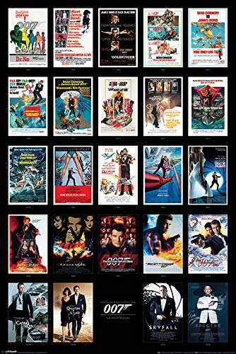 James Bond - Collage of Movies Poster - egoamo.co.za
