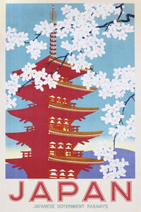 Japan Cherry Blossom Railway Art Poster egoamo.co.za posters