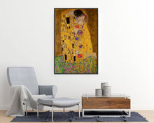 Gustav Klimt - The Kiss - Art poster room mockup - egoamo posters
