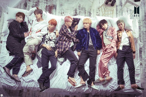 BTS K-pop - Group in Bed Poster - egoamo.co.za