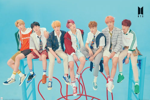 BTS Blue K-pop Poster - egoamo.co.za