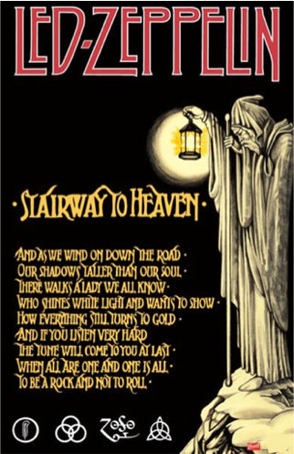 Led Zeppelin - Stairway to Heaven - Poster - egoamo.co.za