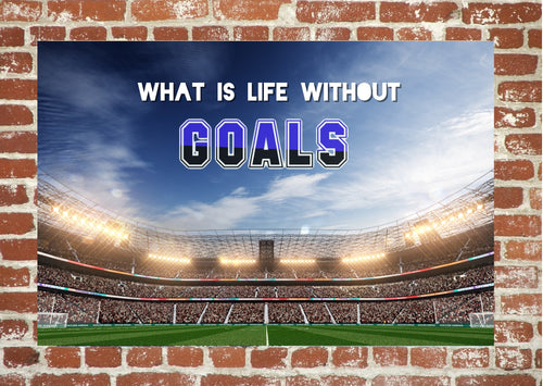 EgoAmo Original - What is life without goals - Poster - egoamo.co.za