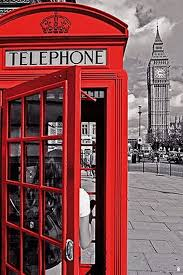 London - Red Telephone Booth Poster