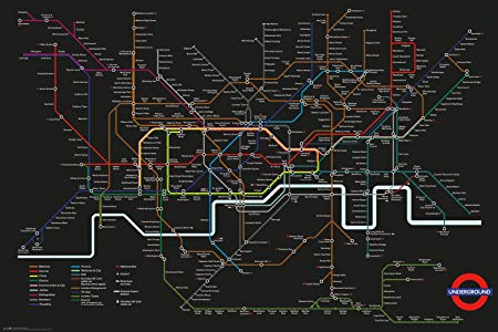 London Underground Map Poster - egoamo.co.za