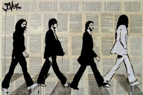 The Beatles abbey road crossing - Loui Jover art print - egoamo posters
