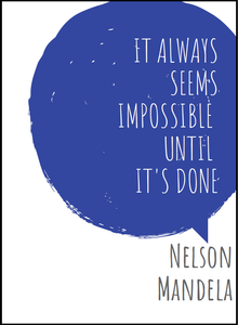 """Impossible"" - Nelson Mandela Quote Poster"