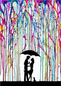 Marc Allante - Raining Colour - Poster