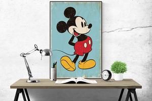 Disney's Retro Mickey Mouse Poster - egoamo.co.za