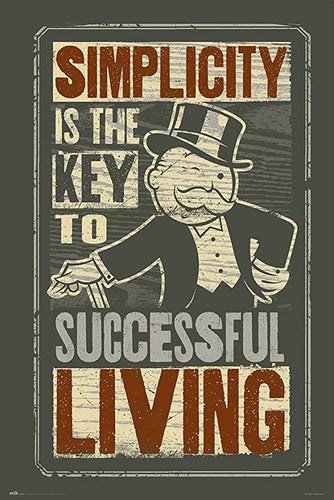 Mr Monopoly Simplicity Quote Poster egoamo.co.za posters