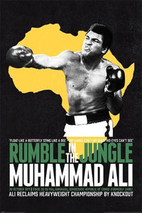 Muhammad Ali - Rumble in the Jungle Poster Egoamo.co.za Boxing Posters
