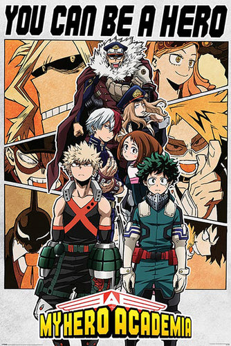 My Hero Academia - You can be a hero Poster egoamo.co.za